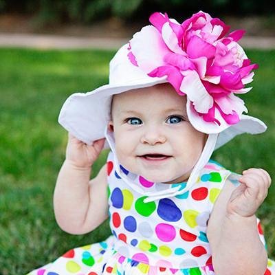 baby sun hats coconut sorbet baby girl sun hat RNJJDQZ