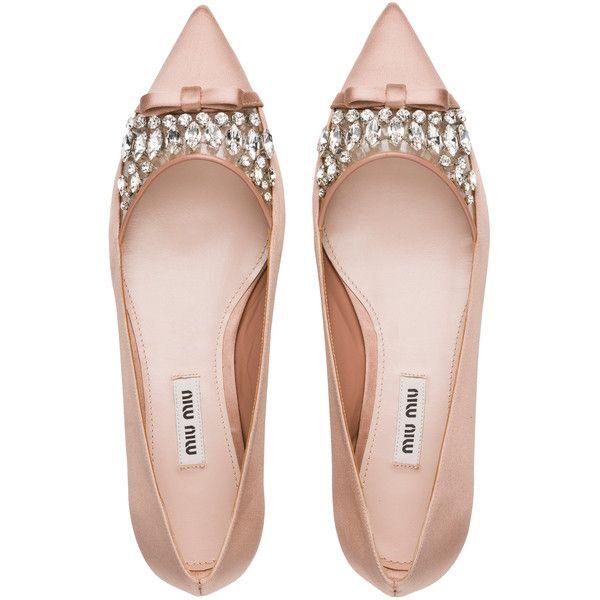 ballerina shoes miu miu ballerina found on polyvore featuring shoes, flats, heels, footwear,  sapatos XAANNSH