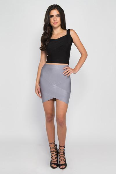 bandage skirts grey bandage skirt FLEDQHA