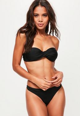 bandeau bikinis ... black twist bandeau bikini top - mix u0026 match GOVPCRD
