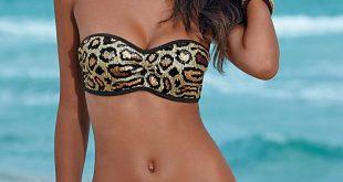 bandeau bikinis sequin bandeau bikini top, sash tie sequin bottom QHWBJXY