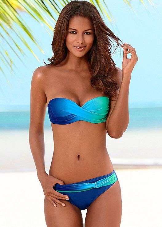bandeau bikinis twist bandeau top, ombre moderate bottom TBRFWIN