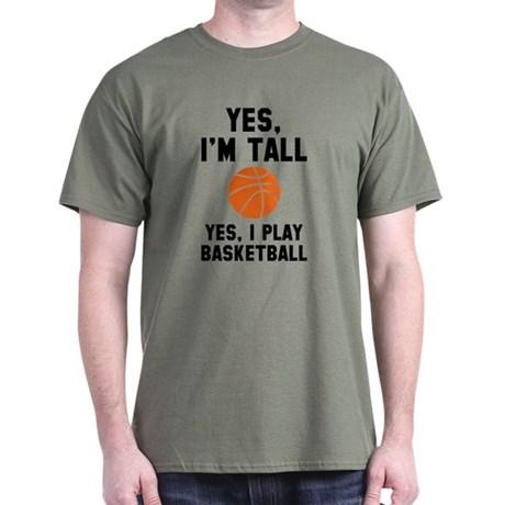 basketball t shirts yes, iu0027m tall t-shirt JSWDRNT