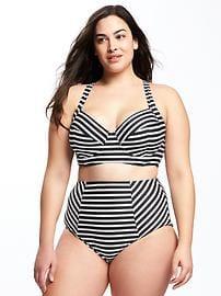 bathing suits for plus size long-line plus-size underwire bikini top UPGQJPV