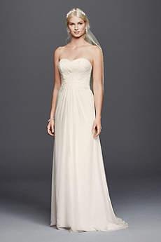 beachy wedding dresses long sheath beach wedding dress - davidu0027s bridal collection VQLGWEN