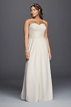 beachy wedding dresses long sheath beach wedding dress - davidu0027s bridal collection YPHTVOO