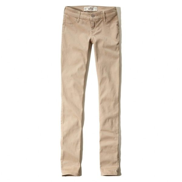 beige jeans hollister super skinny jeans (675 uah) ❤ liked on polyvore featuring jeans,  light RSHFZVY