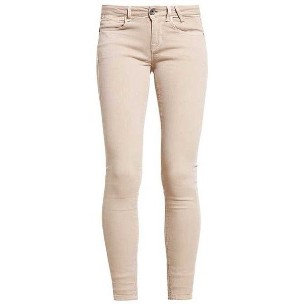 beige jeans jegging jeans skinny beige zalando ($105) ❤ liked on polyvore featuring  jeans, pants ONEMLMQ