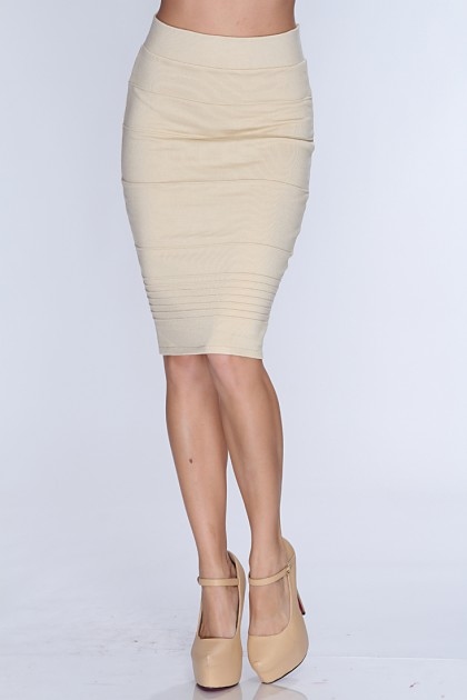beige skirt beige high waist pencil skirt @ amiclubwear clothing skirts online  store:long skirt,mini skirts,poodle BEXFDPT