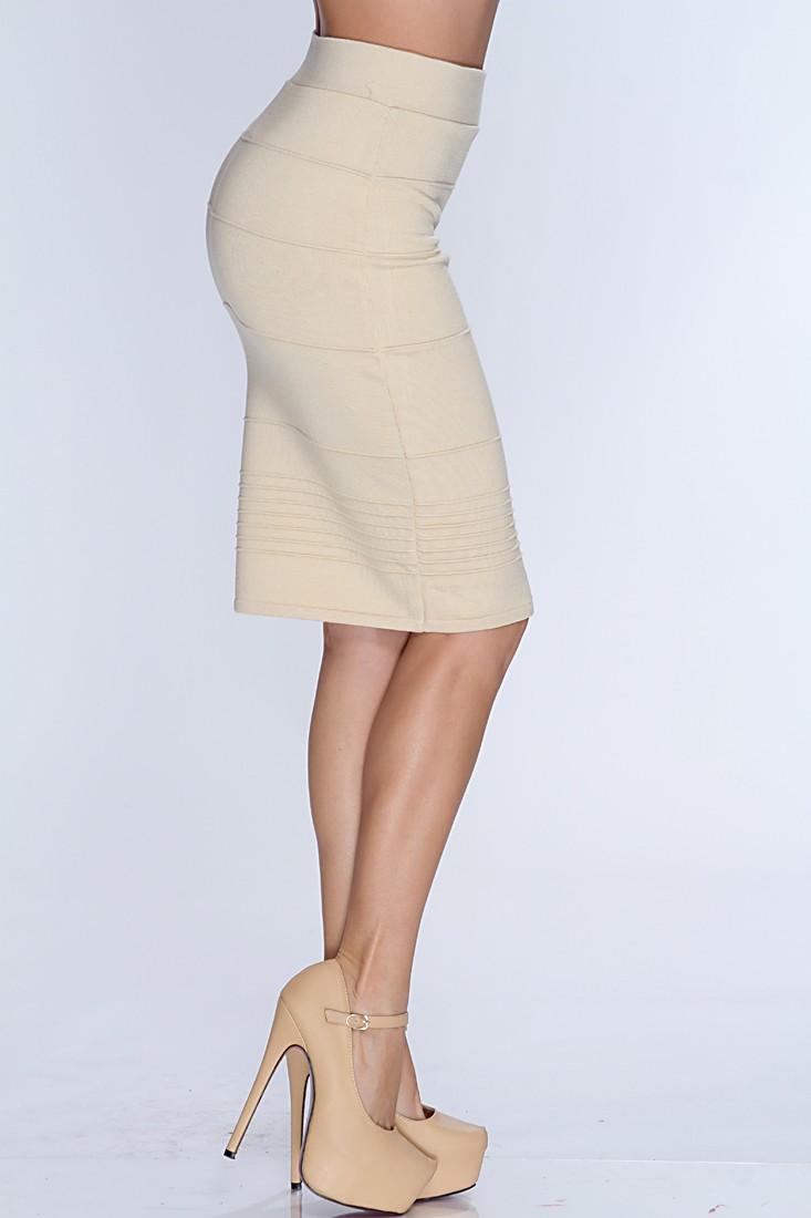 beige skirt beige high waist pencil skirt DBKOWTJ