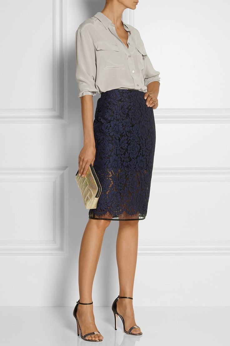 How to make the black lace skirt work in office