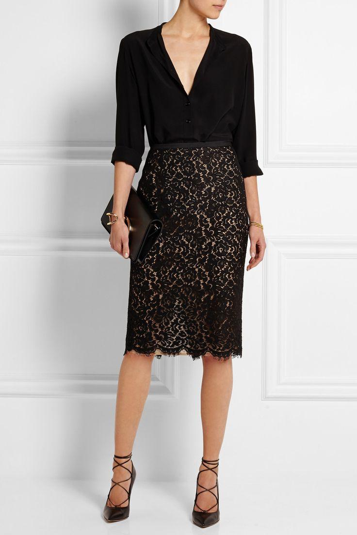 best 25+ black lace skirt ideas on pinterest | lace skirt, midi hems style FCBNEIP