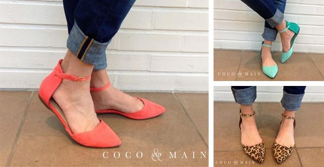 best selling ankle strap pointed toe flats - leopard restocked!! | jane XLSGMRJ