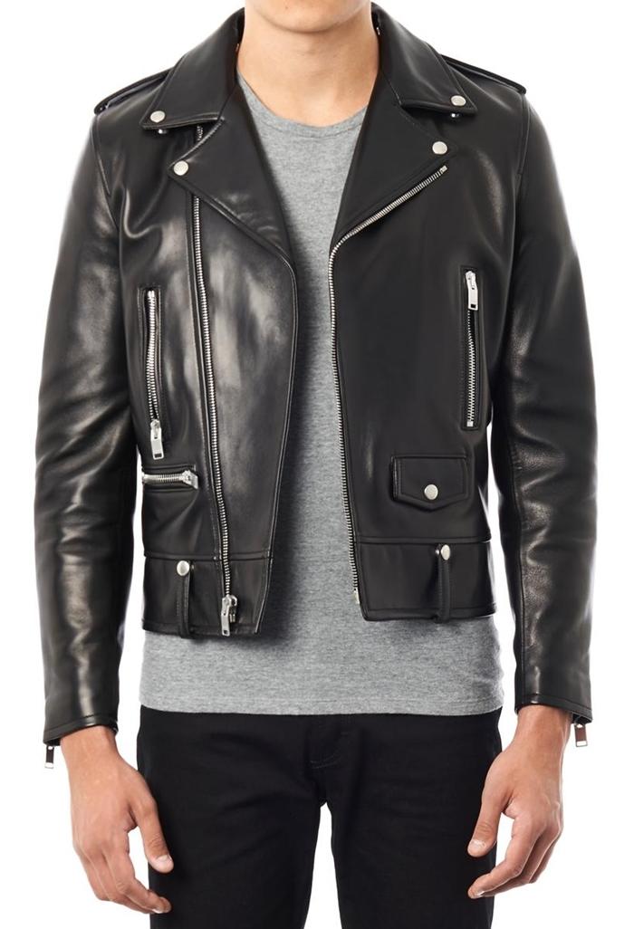 biker leather jackets ... biker leather jacket men mens black biker leather jacket saint lau men ABOOPCX