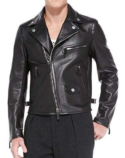 biker leather jackets burberry prorsum $4,595, available at neimanmarcus.com MLAQOWX