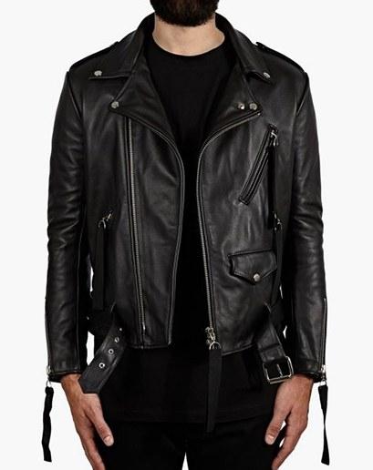 biker leather jackets **matthew miller ** $1,520, available at oki-ni.com MIUPFTU