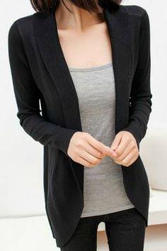 black cardigans closet staple: black cardigan NZESJPG