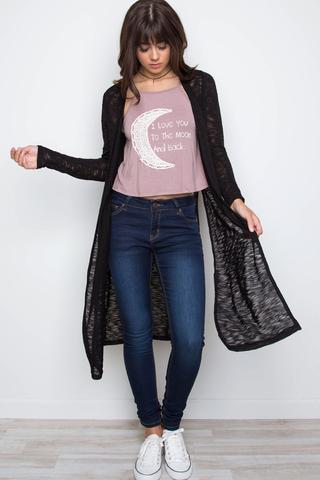 black cardigans waverly knit cardigan - black YWXCDWS