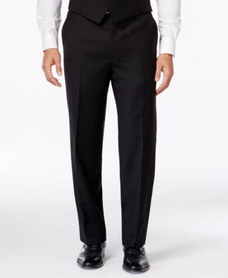 black dress pants lauren ralph lauren black solid classic-fit dress pants SVNJSCY