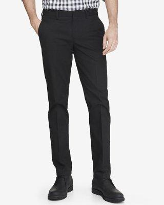 black dress pants skinny innovator black cotton dress pant | express HNOCBRD
