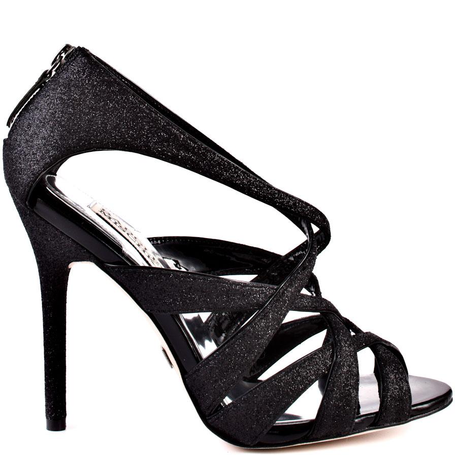 black glitter heels junebug - black glitter main view MVGMDXM