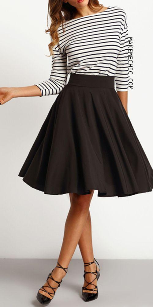 black high waisted skirt black high waist pleated skirt NJSUAEI