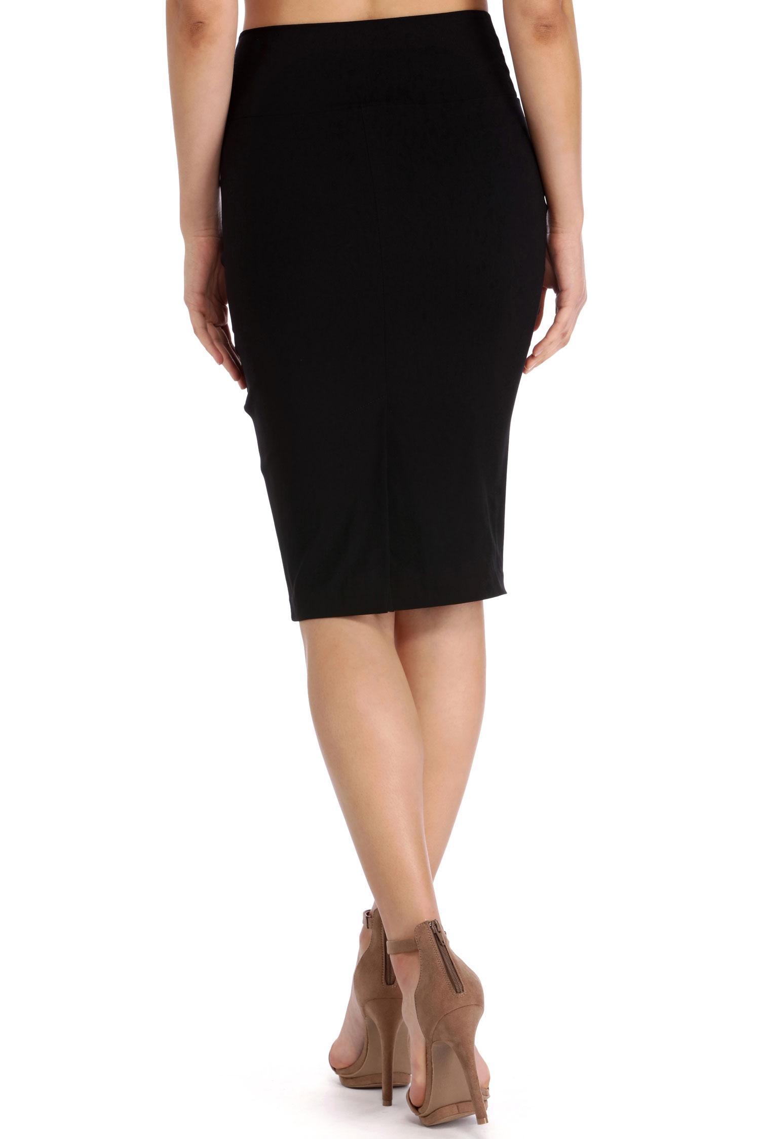 black high waisted skirt black high waisted pencil skirt. style #: 064010670. previous. default  view; 2; back DYQELDP