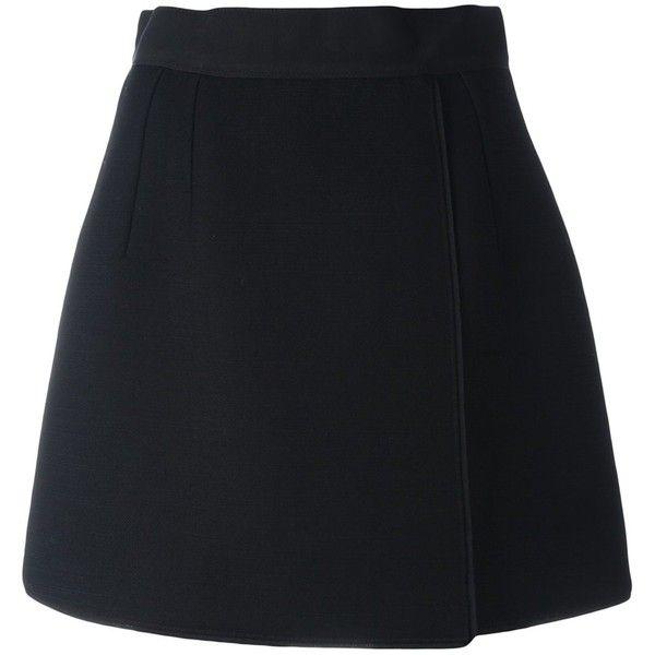 black high waisted skirt dolce u0026 gabbana short a-line skirt ($695) ❤ liked on polyvore featuring · black WKQWOWM