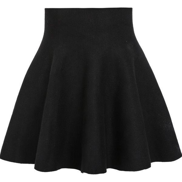 black high waisted skirt high waist ruffle skirt ($11) ❤ liked on polyvore featuring skirts, bottoms, YZMIYBV