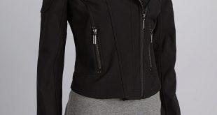 black jackets for women black side zip motorcycle jacket - women DDPSMZZ