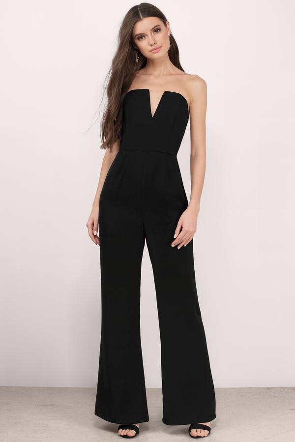 black jumpsuits katrina black crepe jumpsuit VTQBWHY