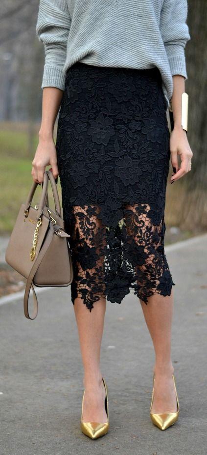 black lace skirt 15 razones para agregarle encaje a todo en tu vida. black lace skirtblack IDGBTXY