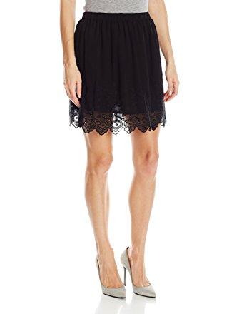 black lace skirt lucky brand womenu0027s lace skirt, jet black, x-small EPRGZQM