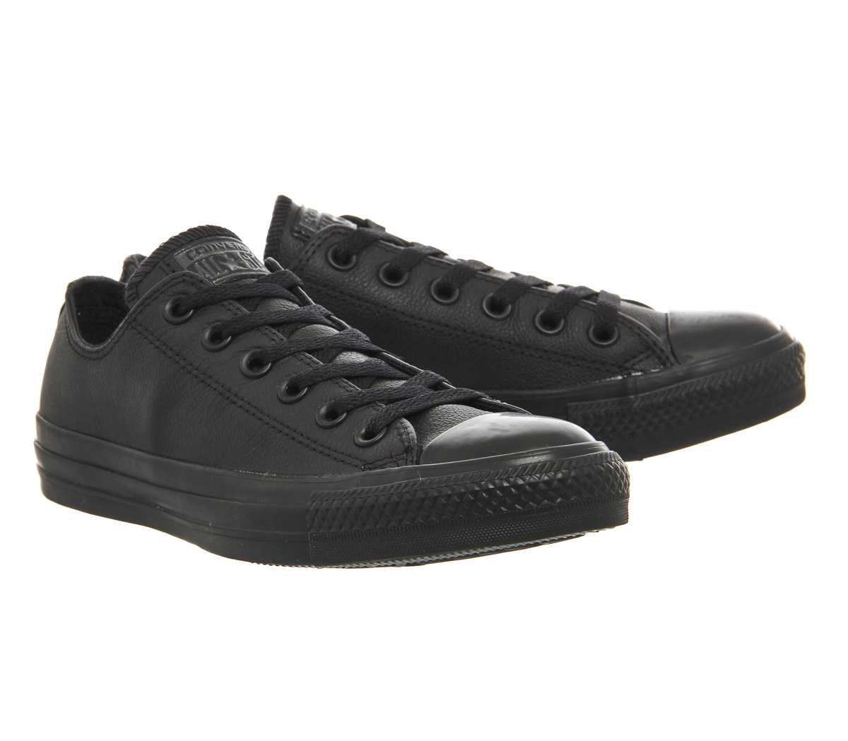 black leather converse all star low leather KTQHUNE