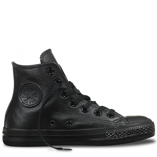 Black leather converse- A class of its own.