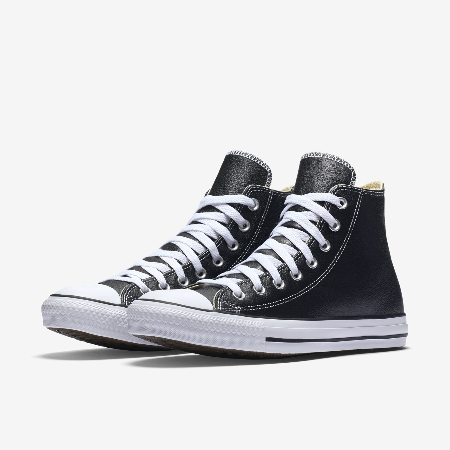black leather converse converse chuck taylor all star leather unisex high top shoe. nike.com PZXOCFY