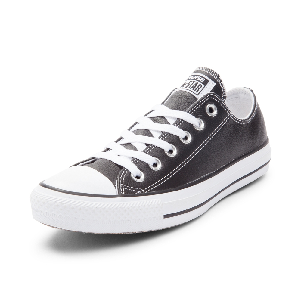 black leather converse converse chuck taylor all star lo leather sneaker CBDZHIR