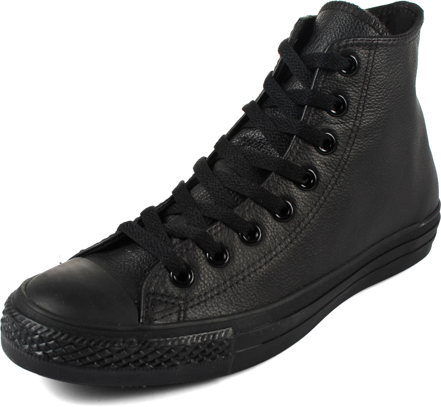 black leather converse converse chuck taylor all star shoes (1s581) hi black leather QCBRKMC