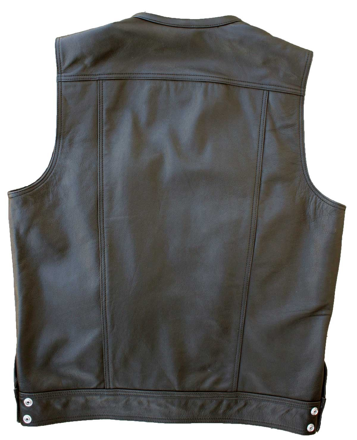 black leather vest dirty cop motorcycle vest UFGSWPQ