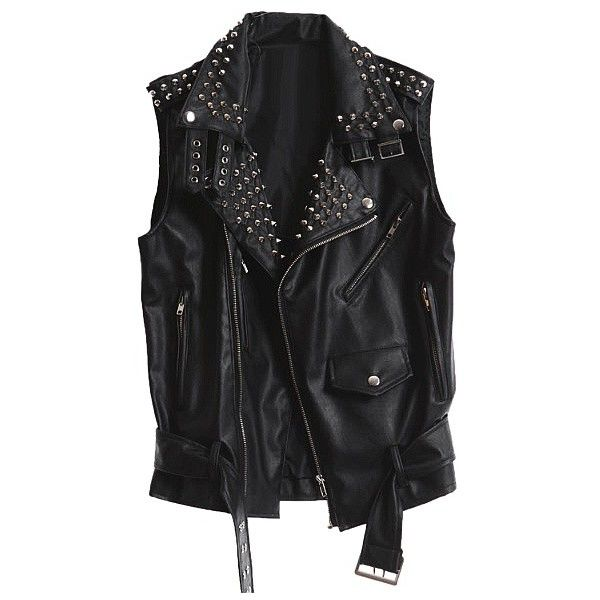 black leather vest leather vest - rider (12.870 rub) ❤ liked on polyvore featuring outerwear,  vests MLNEMKX