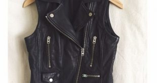 black leather vest topshop leather moto vest HHWIWEX