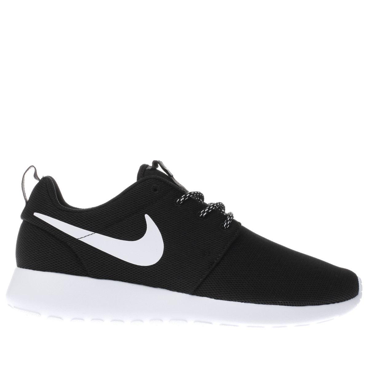 black nike trainers nike black u0026 white roshe one womens trainers ZNQTUDR