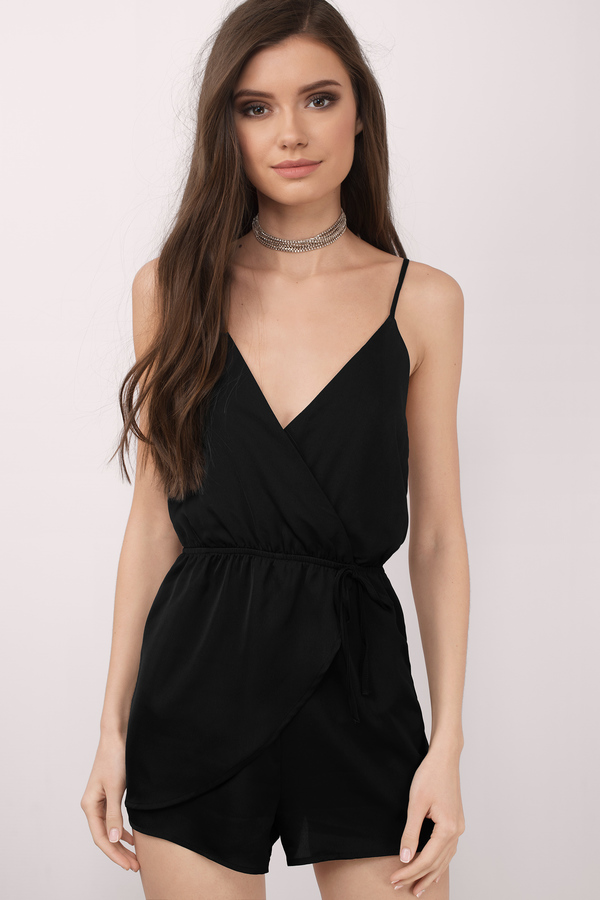black rompers keeley black romper BVTLTQZ