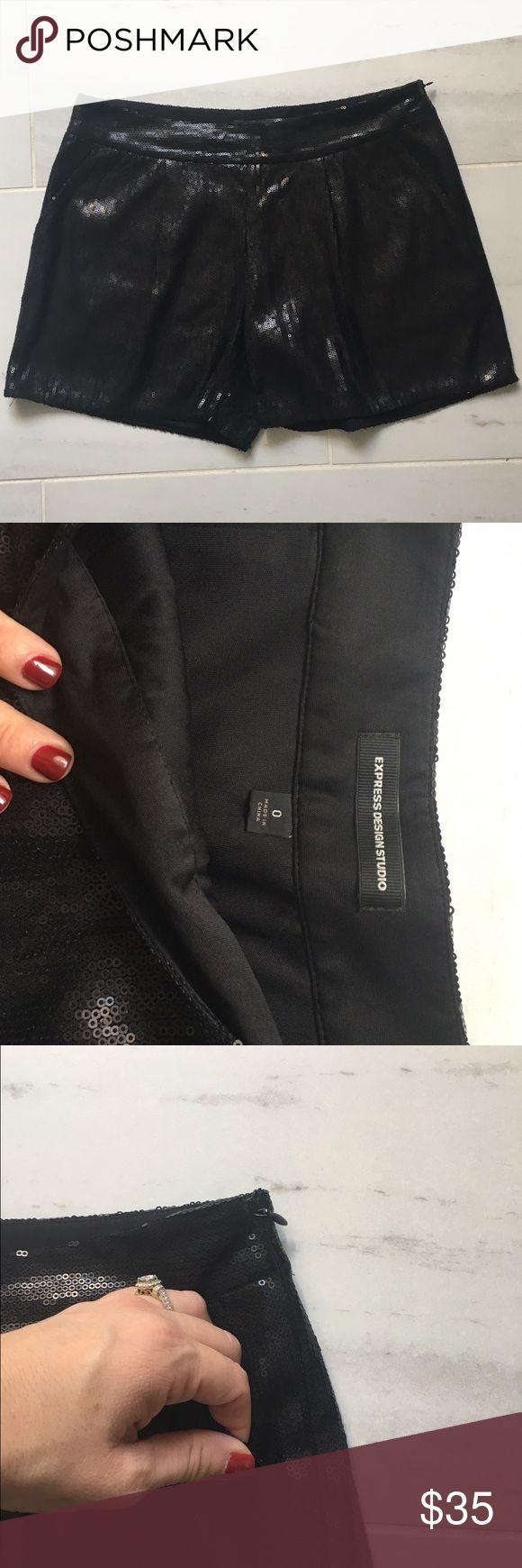 black sequin shorts express sequined shorts RIDXEDQ