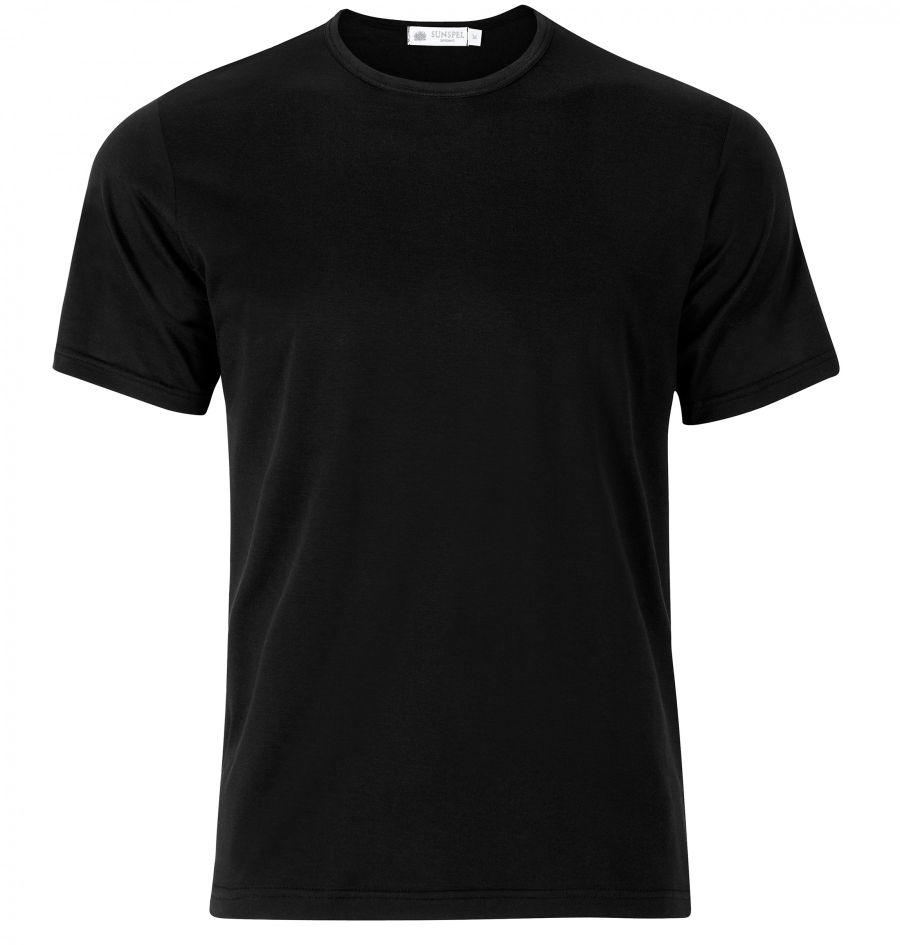black shirts menu0027s superfine cotton t-shirt in black XFCOSQJ