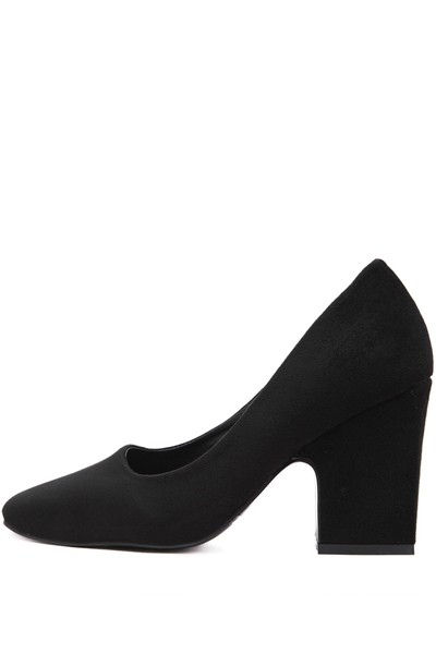 black suede heels black suede square toe chunky pump heels. loading MQYZBVR