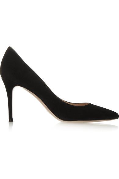 black suede heels gianvito rossi | 85 suede pumps | net-a-porter.com VWNCTBV
