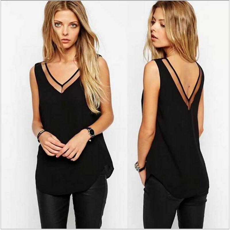 black tops for women 2016 summer ladies black tops chiffon shirts blouses women sheer cheap  clothes china ZSHBKFY