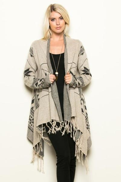 blanket cardigan, top - eleven oh two NDKGGLG