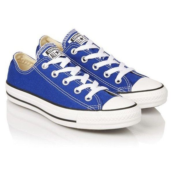 Blue Converse converse chuck taylor canvas sneakers ❤ liked on polyvore featuring shoes,  sneakers, canvas XZGAJCN